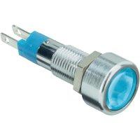 LED signálka s IP67, 12 V, 250 mcd, modrá