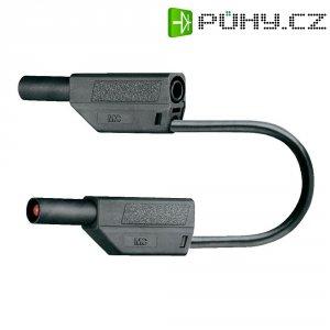 Měřicí kabel banánek 4 mm ⇔ banánek 4 mm MultiContact SLK425-E, 0,5 m, černá