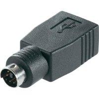 USB / PS/2 adaptér klávesnice / myš Belkin F3U162CP, 0 m, černá