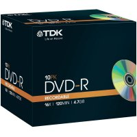 TDK DVD-R 4,7GB 16X 10 ks JEWELCASE