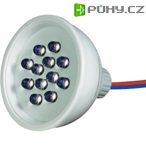 LED SPOT 50mm MODRÁ 12 LED 24V AC IP67