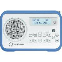 DAB+ rádio Renkforce DAB 1, FM, modrá/bílá