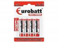 Baterie R6 Zinc 4x AA, EUROBATT blistr