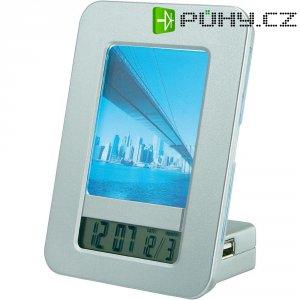 USB HUB s hodinami a fotorámečkem, 4x USB