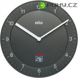 Analogové DCF nástěnné hodiny Braun, 66040, Ø 200 x 32 mm, šedá