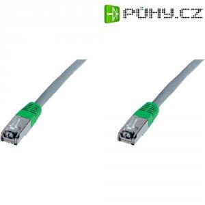 Síťový křížený kabel CAT 5e F/UTP RJ 45, vidlice ⇔ vidlice, 2 m, šedý
