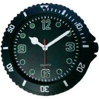 Analogové nástěnné hodiny Sygonix, 81769-05, Ø 30 cm, černá