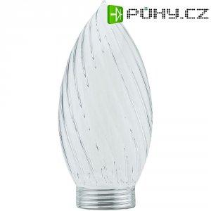 Stínítko pro žárovku, skleněné , svíčka-alt, čiré