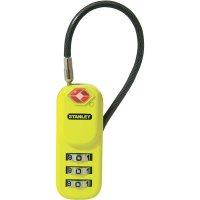 TSA kabelový zámek na heslo Stanley Vorhängeschlösser 81161393401, 24 mm, černá, žlutá