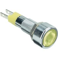 LED signálka s IP67, 12 V, 150mcd, žlutá