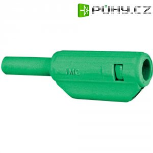 Lamelový konektor Ø 2 mm MultiContact 65.9182-25, zástrčka rovná, zelená