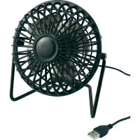 USB stolní ventilátor TM-2029, (Ø x v) 155 mm x 140 mm, černá