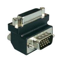 Adaptér DVI 24+ 5-pólový na VGA 15-pólový, zásuvka/zástrčka, 270°