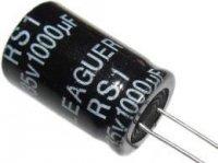 1000u/35V 85° 13x21x5mm, elektrolyt.kondenzátor radiální