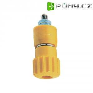Pólová svorka, (Ø x d) 12 x 30 mm, žlutá