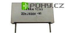 22n/630V TC341, svitkový kondenzátor impulsní, RM=22mm