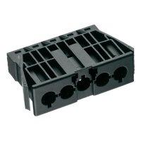 Vestavná síťová zásuvka Adels Contact AC 166 GEST/5, 400 V, 16 A, černá, 168765