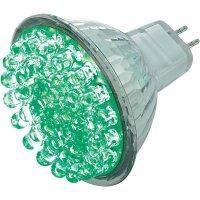 LED žárovka Basetech, GU5.3, 1,7 W, 12 V, zelená