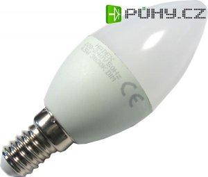 Žárovka LED E14 C35 svíčková, teplá bílá, 230V/4,5W, stmívatelná