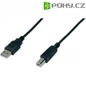 Kabel USB 2.0, USB A/USB B, 5 m, Digitus