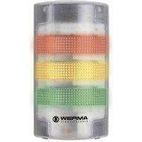 LED signalizační sloupek akustický Werma 691.200.55, 24 V/DC, IP65, transparentní