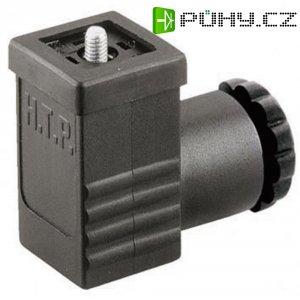Ventilový konektor HTP P2NZ3000-H, IP65 (namontované), černá, 3pólový