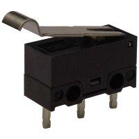 Mikrospínač s páčkou Zippy DF-03S-2P-Z, 125 V/AC, 3 A, do DPS, 1x zap/(zap)