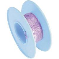 Vinutý drát 93014c384, 1x 0,01 mm², Ø 0,25 mm, 15 m, fialová