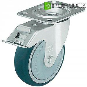 Otočné polyuretanové kolečko s kontrukční deskou a brzdou, Ø 125 mm, Blickle 337907