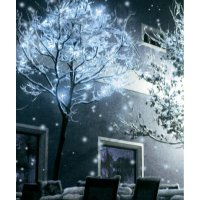 Venkovní vánoční mikro světelný řetěz, 40 LED, 9 m, bílá