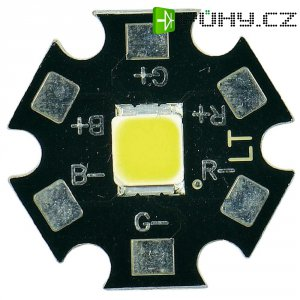 HighPower LED CREE, MX3AWT-A1-STAR-000E51, 350 mA, 3,7 V, 120 °, chladná bílá
