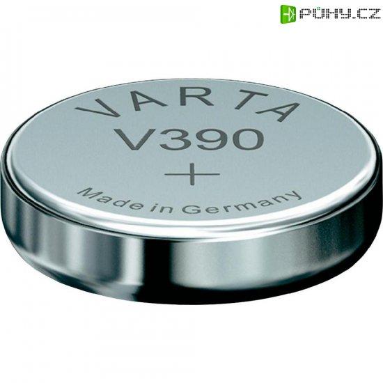 Knoflíková baterie 390, Varta SR54, na bázi oxidu stříbra, 00390101401 - Kliknutím na obrázek zavřete