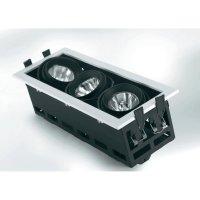 Halogenové vestavné světlo Sygonix Launet, 3x 50 W, GU5.3, černá/bílá