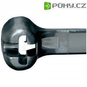 Stahovací pásek s nerezovou pojistkou UV odolný Dome-Top Panduit BT3S-C0, 305 x 4,7 mm