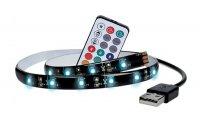 LED pásek pro TV RGB,100cm, USB, vypínač, dálkový ovladač WM503 SOLIGHT