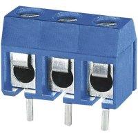 Pájecí svorkovnice 3nás. série DG301-5.0 DG301-5.0-03P-12, AWG 22-14, 5,0 mm, modrá