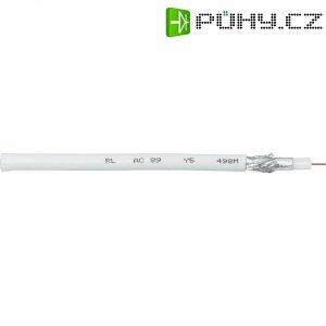Koaxiální kabel Interkabel AC 89, 75 Ω ±3 Ω, stíněný, bílá, 1 m
