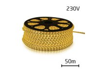LED pásek 230V, 5050 60LED/m IP67 max. 14.4W/m bílá teplá (cívka 50m) zalitý