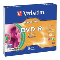 Verbatim DVD-R 4,7GB 16X 5 ks SC LIGHT