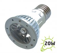 Žárovka LED E27/230V (1x) - 3W bílá teplá