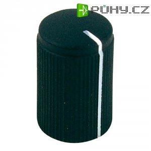 Otočný knoflík Cliff FC7249, pro sérii KMK10, 6 mm, s drážkováním, černá