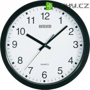 Analogové nástěnné hodiny Eurochron EQWU 881, A3199, Ø 30,5 x 3,8 cm, černá