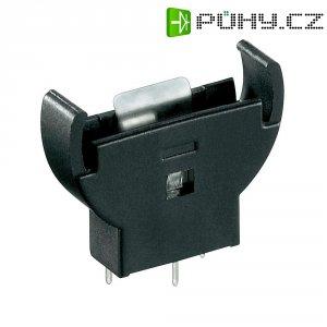 Držák na knoflíkovou baterii CR2032 Goobay 46159, vertikální, rozestup pinů 13,08 mm, černá