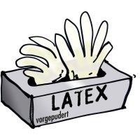 Jednorázové latexové rukavice Leipold + Döhle 14699, velikost XL, transparentní, 100 ks