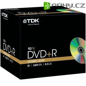 TDK DVD+R DL 8,5GB 8X 10 ks v krabičce