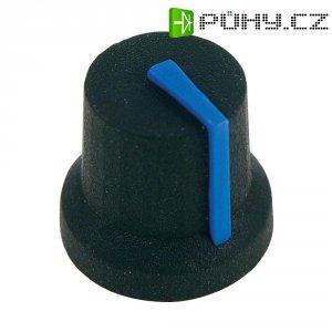 Otočný knoflík Cliff CL170851BR, pro sérii K87MBR, 6 mm, s drážkováním, černá