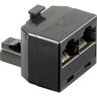 ISDN adaptér RJ45 zástrčka 8p8c ⇔ RJ45 zásvuka 8p8c Wentronic, 8pól.