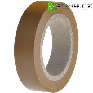 Izolační páska HellermannTyton HelaTapeFlex 15, 710-00107, 15 mm x 10 m, hnědá