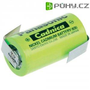 Akumulátor NiCd Panasonic Sub-C s pájecími kontakty, 1800 mAh