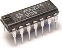 K561KT3 - 4x analogový spínač, DIL14 /CD4066A/